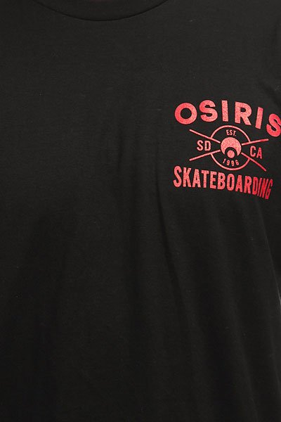 Футболка Osiris Skateboarding Black/Red
