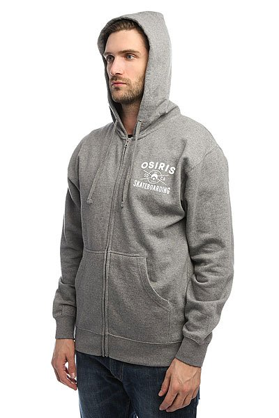 Толстовка классическая Osiris Fleece Zip Skateboarding Gunmetal