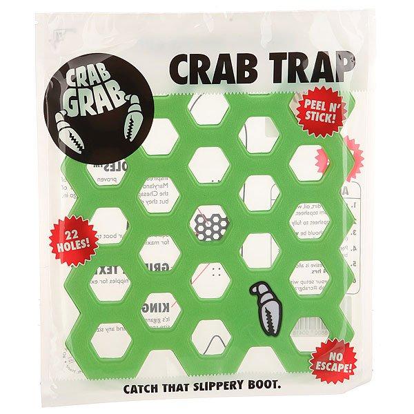 Наклейки на сноуборд Crabgrab Crab Trap Green