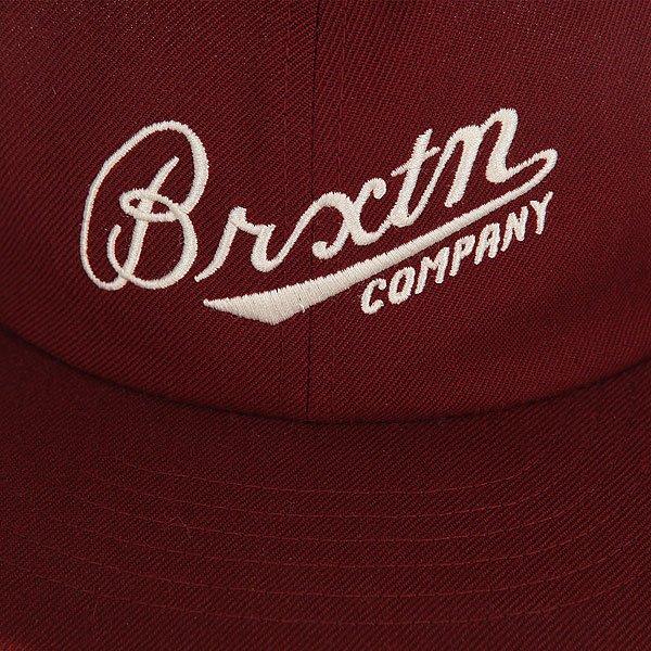 Бейсболка с прямым козырьком Brixton Fenway Cap Burgundy