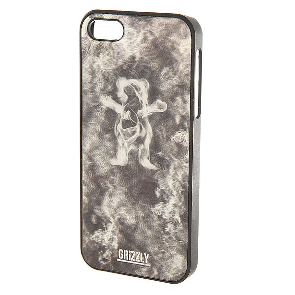 Чехол для iPhone 5s Grizzly 3d Smoke Bear Iphone Case Black