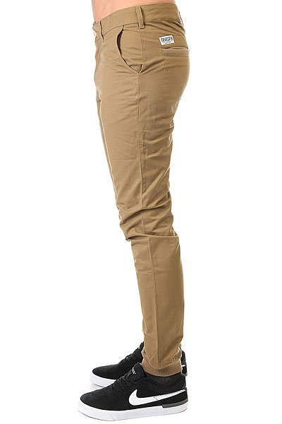 Штаны прямые TrueSpin Classic Chino Joggers Brown