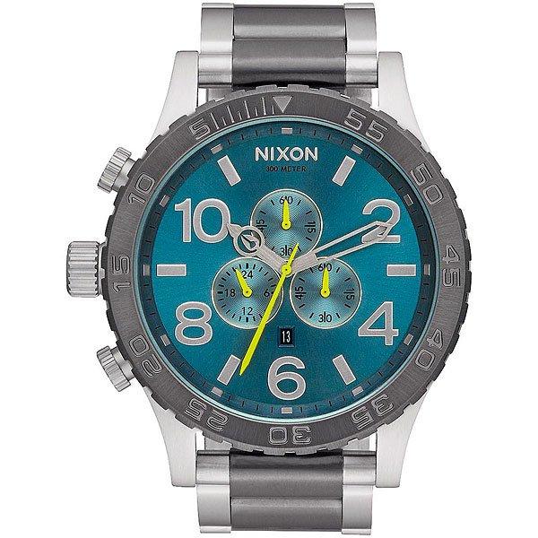 Кварцевые часы Nixon 51-30 Chrono Gunmetal/Aqua Sunray