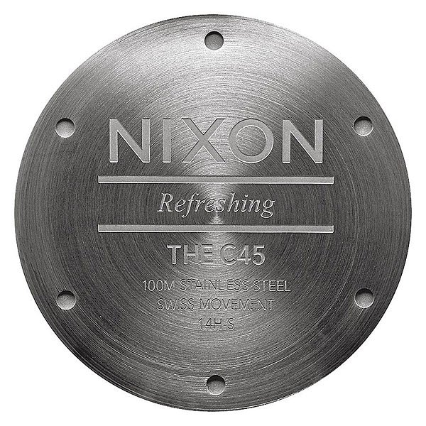 Кварцевые часы Nixon C45 Leather Gunmetal/Surplus Cuff