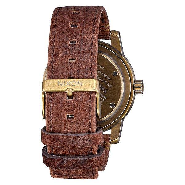 Кварцевые часы Nixon Patriot Leather Brass/Green Crystal/Brown