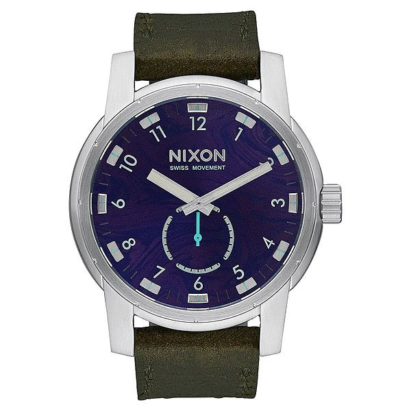 Кварцевые часы Nixon Patriot Leather Purple/Olive