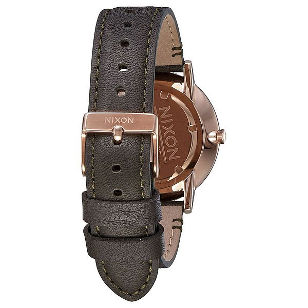 Кварцевые часы Nixon Porter Leather Rose Gold/Gunmetal/Surplus