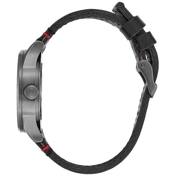 Кварцевые часы Nixon Sentry 38 Leather Gunmetal/White