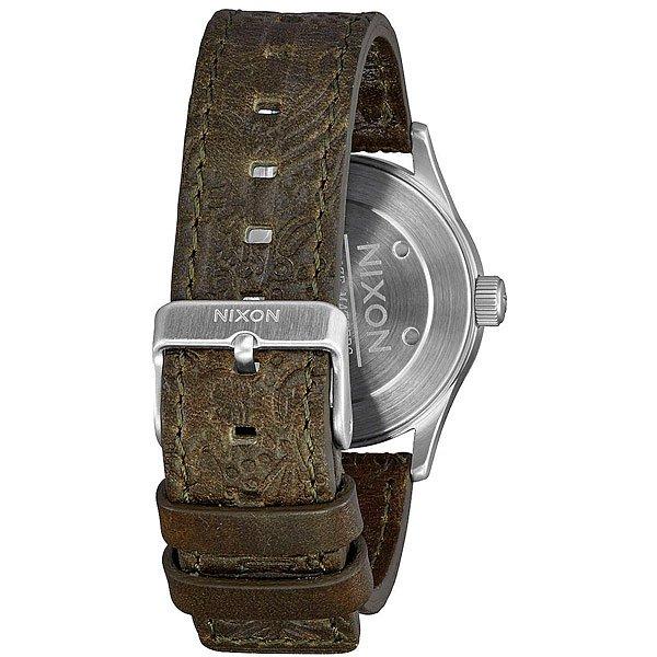 Кварцевые часы Nixon Sentry 38 Leather Purple/Olive