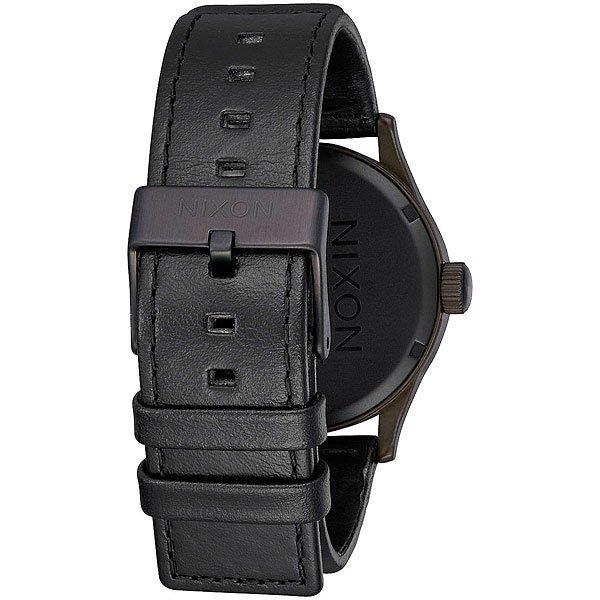 Кварцевые часы Nixon Sentry Leather Bronze/Black
