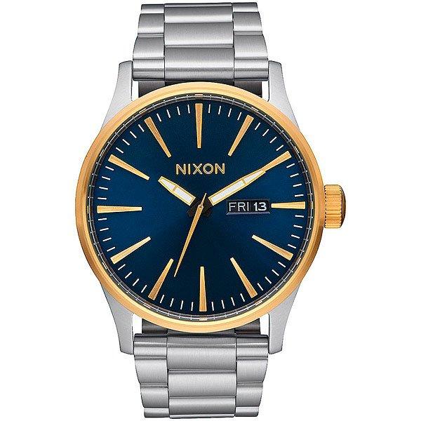 Кварцевые часы Nixon Sentry Ss Gold/Blue Sunray