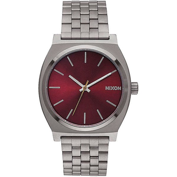 Кварцевые часы Nixon Time Teller Gunmetal/Deep Burgundy