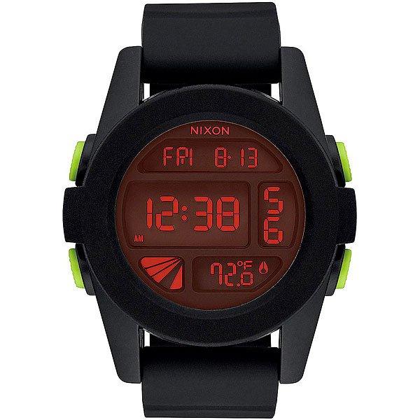 Электронные часы Nixon Unit All Black/Red