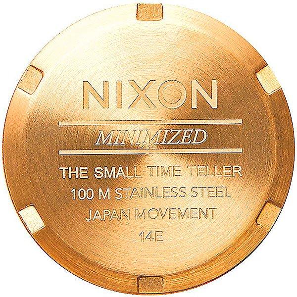 Кварцевые часы женские Nixon Small Time Teller Gold/Green Sunray