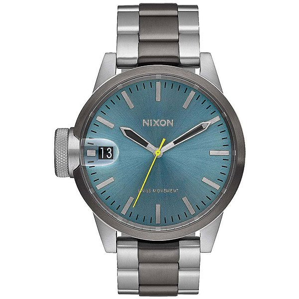 Кварцевые часы Nixon Chronicle 44 Gunmetal/Aqua Sunray