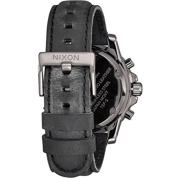 Кварцевые часы Nixon Ranger Chrono Leather Gunmetal/Lum
