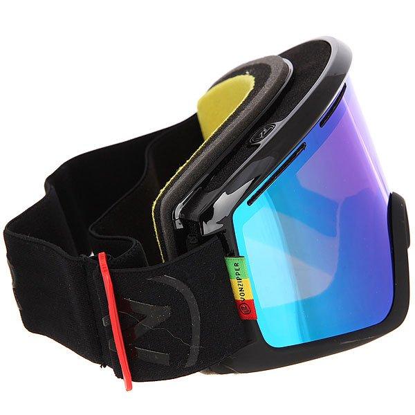 Маска для сноуборда Von Zipper Cleaver Black Gloss/Satin/Quasar Chrome