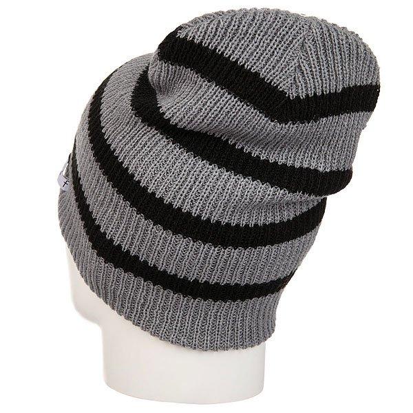 Шапка носок Neff Daily Stripe Beanie Grey/Black