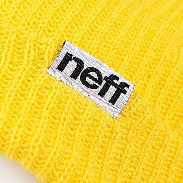Шапка Neff Fold Beanie Neon Yellow