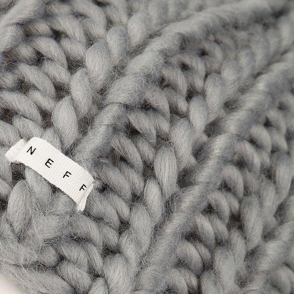 Шапка носок женская Neff Cara Beanie Grey