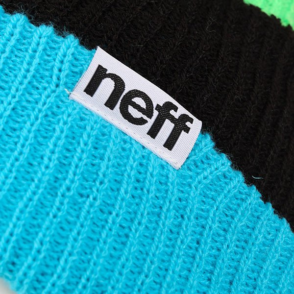 Шапка Neff Snappy Beanie Cyan/Black/Slime