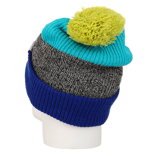 Шапка Neff Snappy Beanie Royal/Heather/Teal