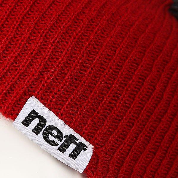 Шапка Neff Snappy Beanie Red/Grey/Navy