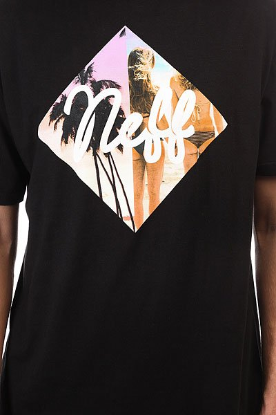 Футболка Neff Diamond Summer Beaches Black