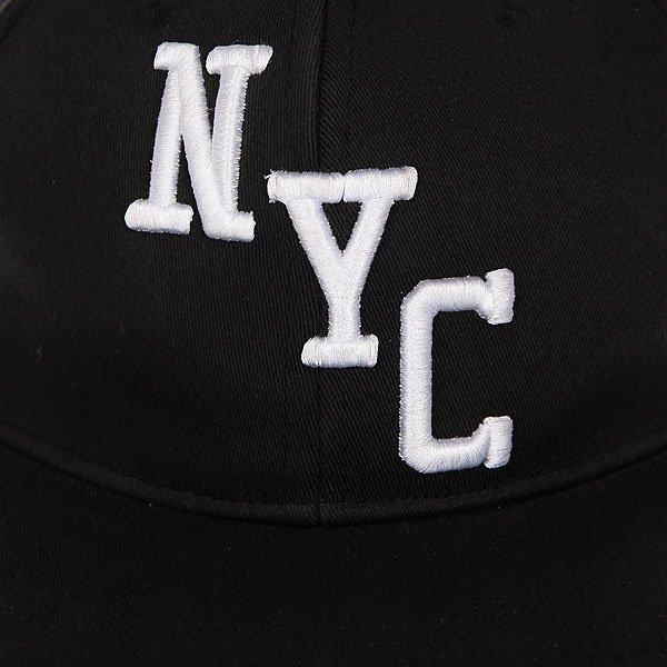 Бейсболка с прямым козырьком Zoo York Bronson True Black