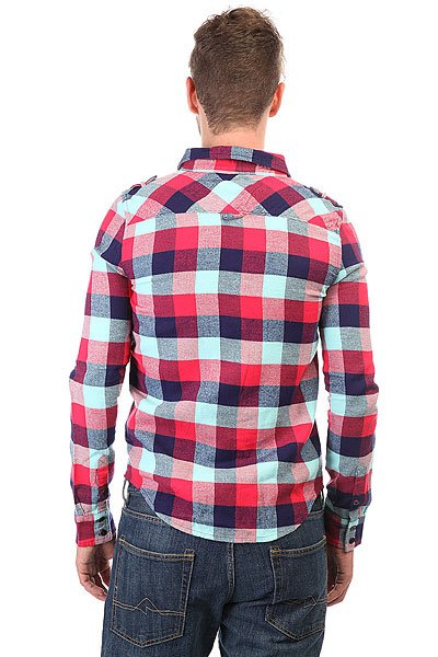 Рубашка в клетку Zoo York Plaid Military Crimson