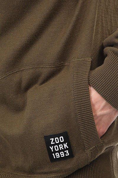Толстовка классическая Zoo York Abrazo Arbol Olive