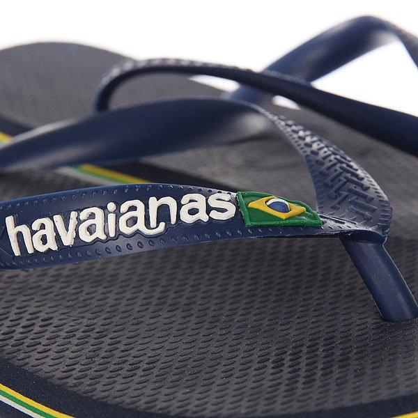 Вьетнамки Havaianas Brasil Logo Navy