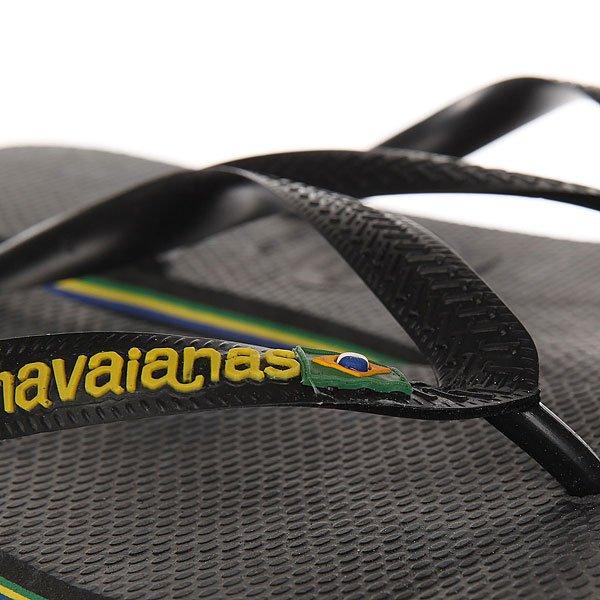 Вьетнамки Havaianas Brasil Logo Black