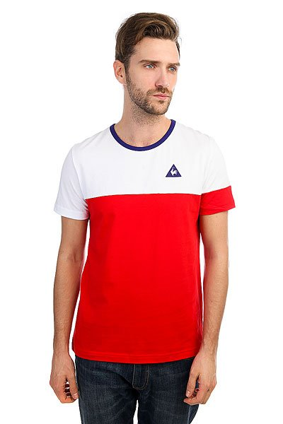 Футболка Le Coq Sportif Merrela Optical White/Pur Rouge