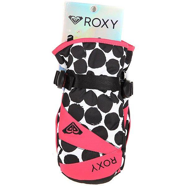 Варежки сноубордические детские Roxy Rxjettygirlmitt Irregular Dots True