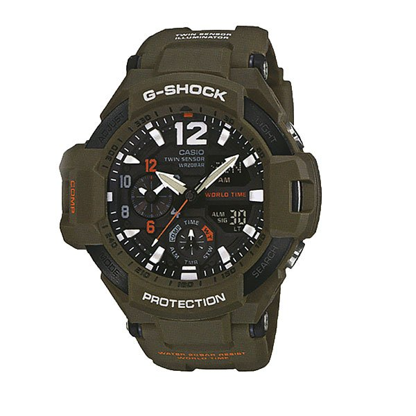 Кварцевые часы Casio G-shock Premium 67587 Ga-1100kh-3a Green