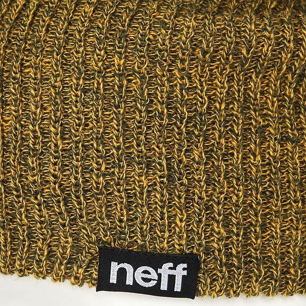 Шапка носок Neff Daily Double Beanie Green/Gold