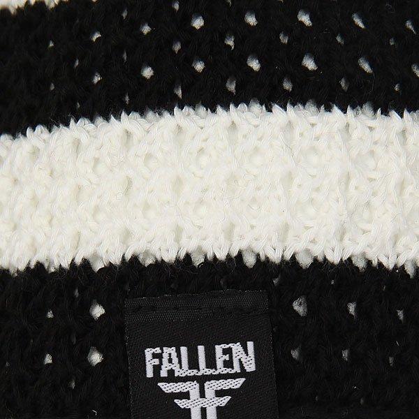 Шапка Fallen Buffalo Striped Knits Beanie Black/White