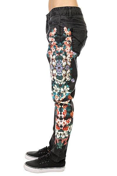 Джинсы узкие женские Insight Python Art Floyd Black