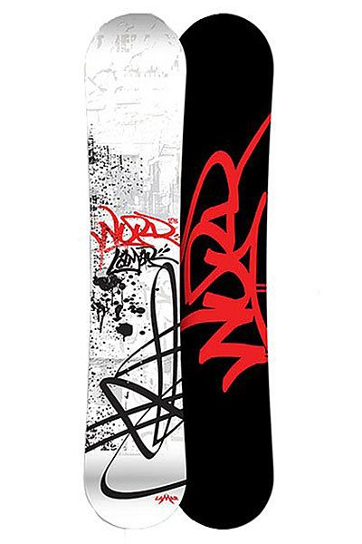 Сноуборд Lamar What? Mac Cam Sidewall 157 Black/White/Red