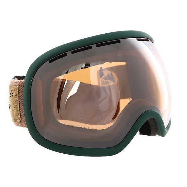 Маска для сноуборда Von Zipper Fishbowl Sin Hunter Green/Persimmon Chrome