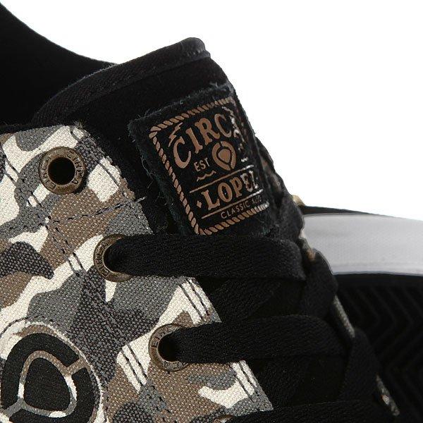 Кеды низкие Circa Lopez 50 Slim Camo/Black