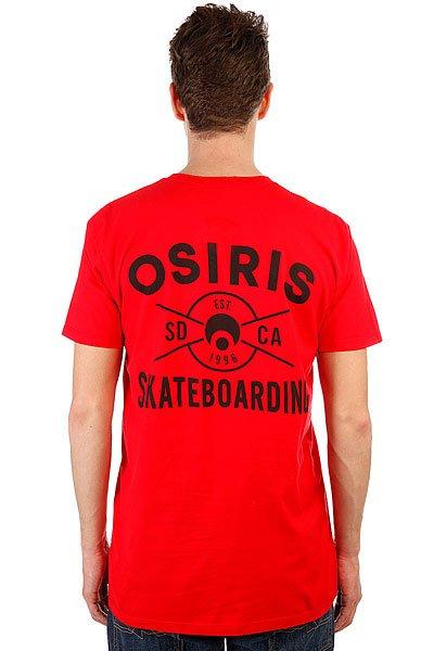 Футболка Osiris Skateboarding Red