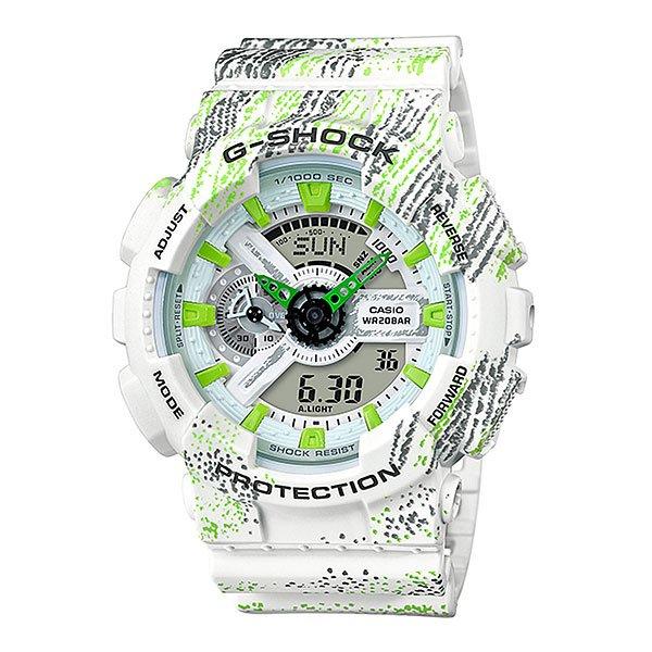 Электронные часы Casio G-Shock Ga-110tx-7a White/Green/Black
