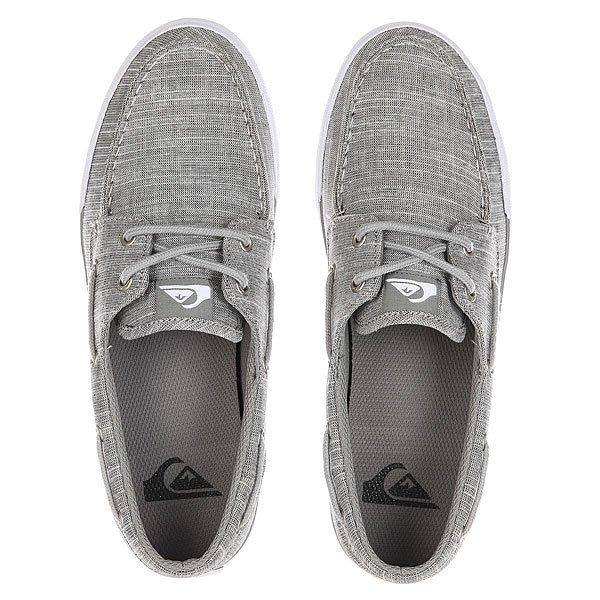 Мокасины Quiksilver Spar Grey/Black/White