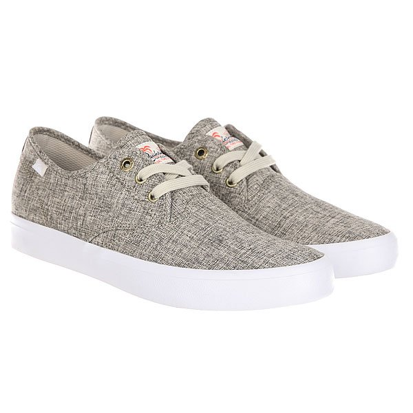 Кеды низкие Quiksilver Shorebreak Delu Grey/White