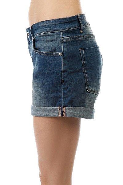 Шорты джинсовые женские Roxy Rollyup J Dnst Dark Blue