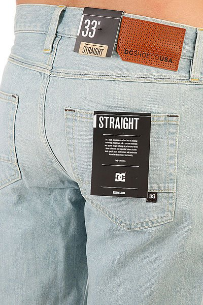 Шорты джинсовые DC Washed Str Dt S Light Indigo Bleach