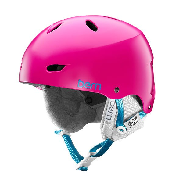 Шлем для сноуборда женский Bern Skate Hardhat Brighton Hh Satin Magenta