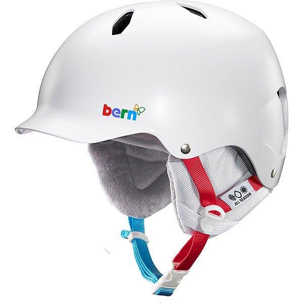 Шлем для сноуборда детский Bern Bandita Satin White Polar Bear/White Cordova Liner
